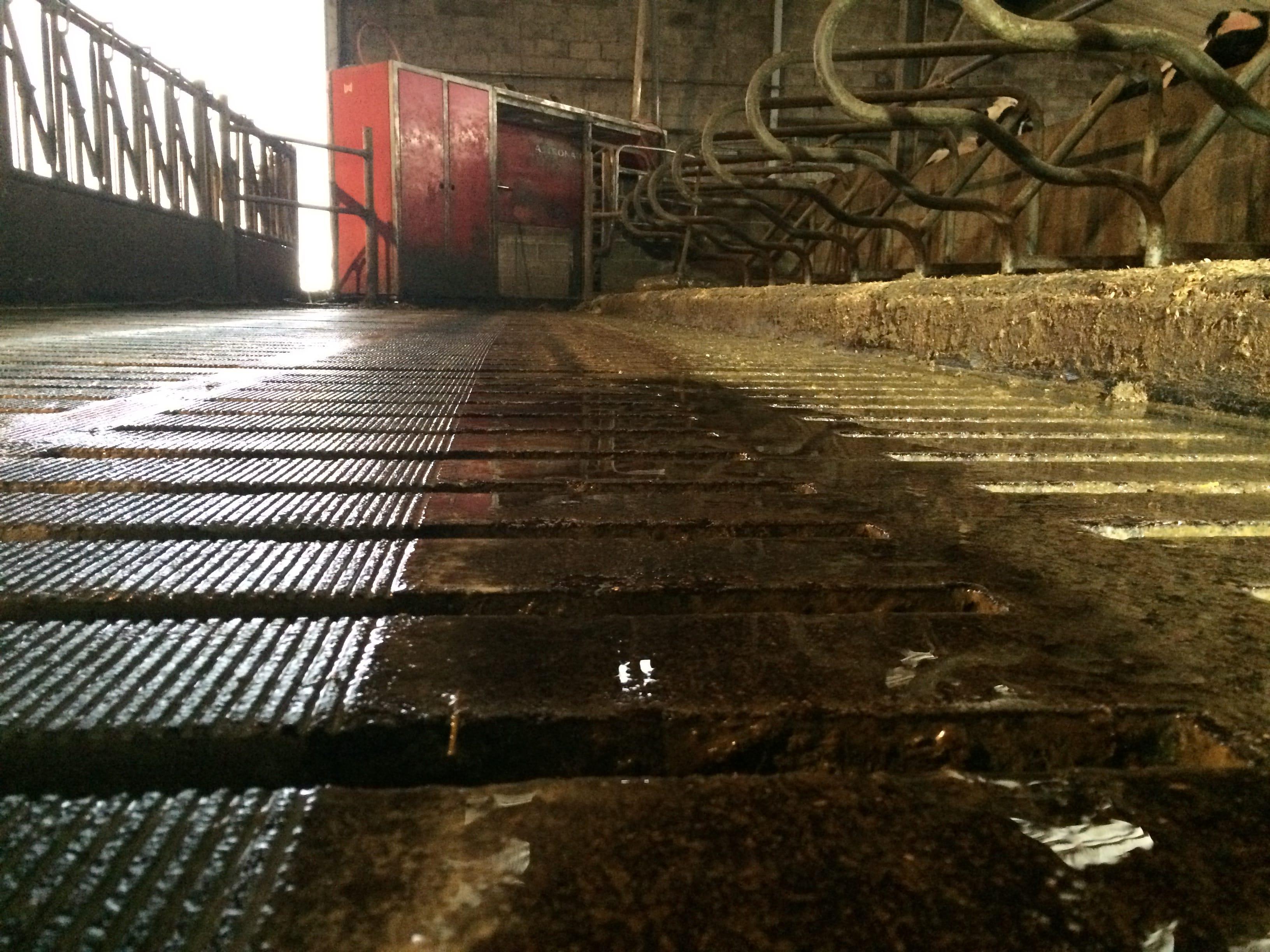 Rainurage de dalle béton caillebotis